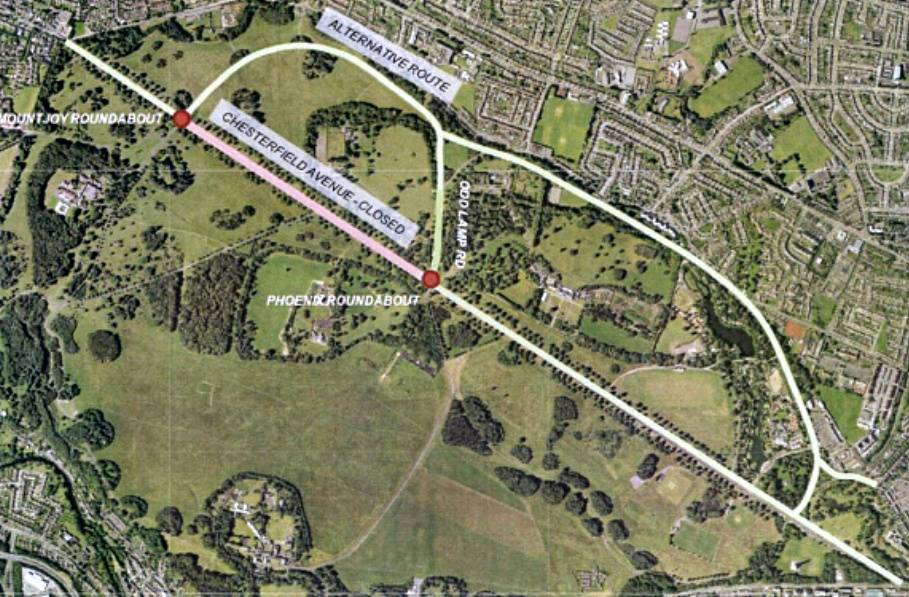 Chesterfield Avenue Partial Closure at Weekends During 2018